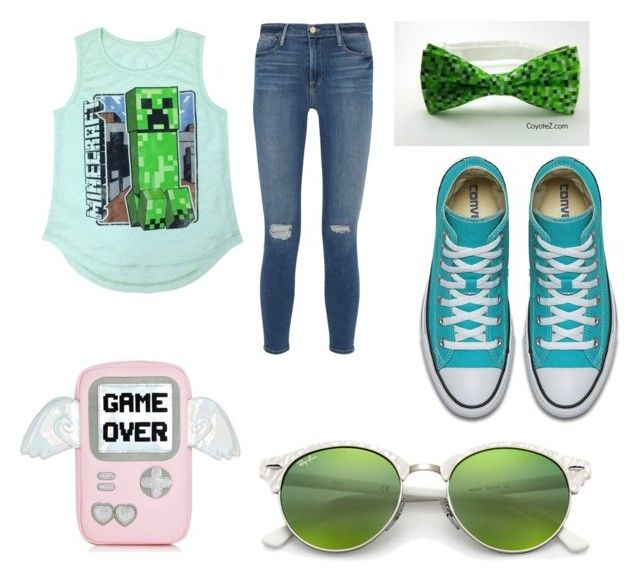 """Minecraft pro"" by punkie707 ❤ liked on Polyvore featuring Frame and Ray-Ban"