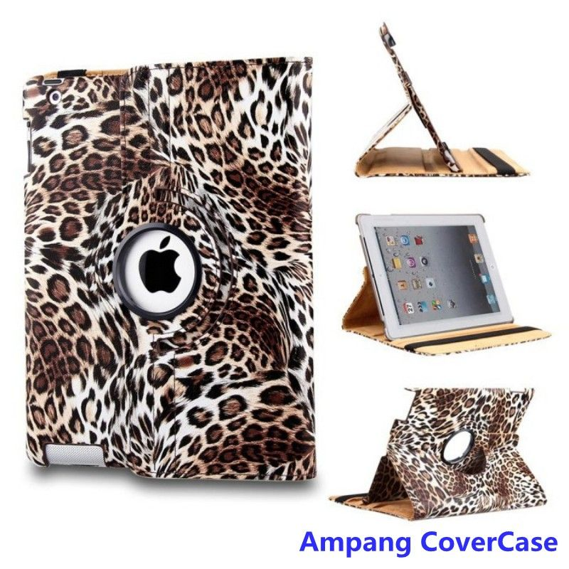 $8.98 (Buy here: http://appdeal.ru/8asr ) Leopard leather 360 Degree Rotating Protectivet Cover for iPad Air Case Mutifunctional Smart Cover with Stand for iPad 5 Cases for just $8.98