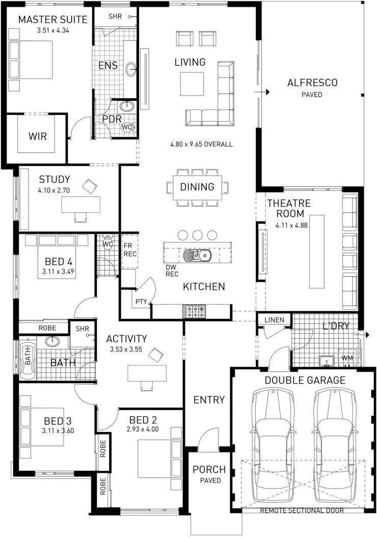 Open Floor Plan House Plans 2021 Four Bedroom House Plans House Floor Plans House Plans