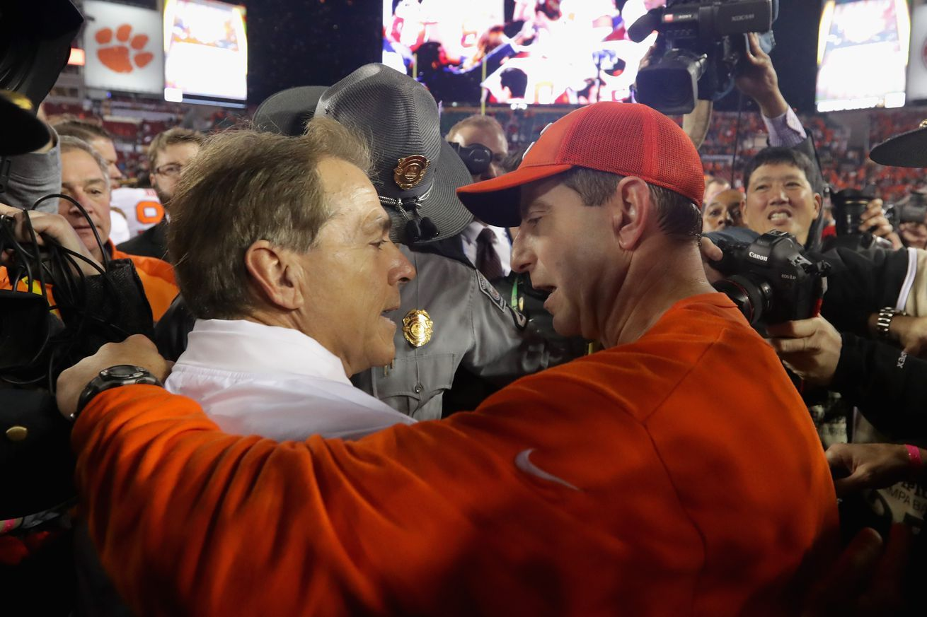 130team S&P rankings Gap between Bama and Clemson is now