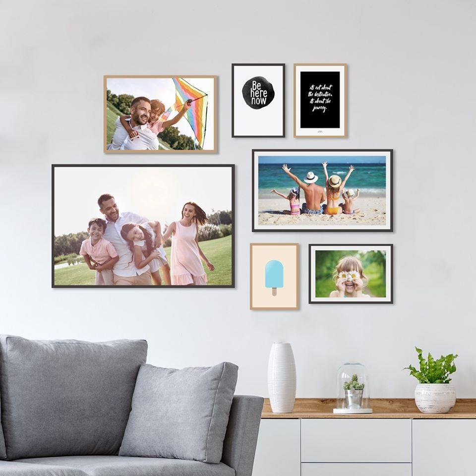 Personlig Billedvaeg Med Prints Af Egne Fotos I 2020 Foto Vaegudsmykning Billedvaeg