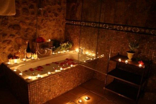 Bathroom Excellent Romantic Bathroom Candles Decorating Ideas For
