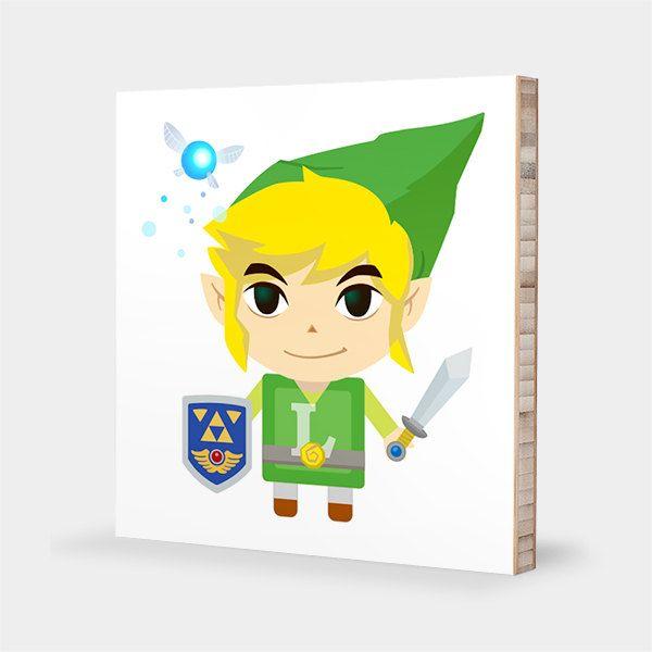 L for Link : ABC Block Bamboo Wall Art Series // Alphabet Kids Wall ...