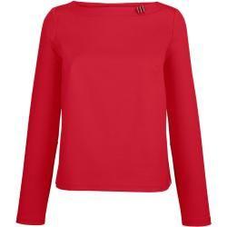Alba Moda, Shirt mit dekorativem Detail am Ausschnitt, rot Alba Moda