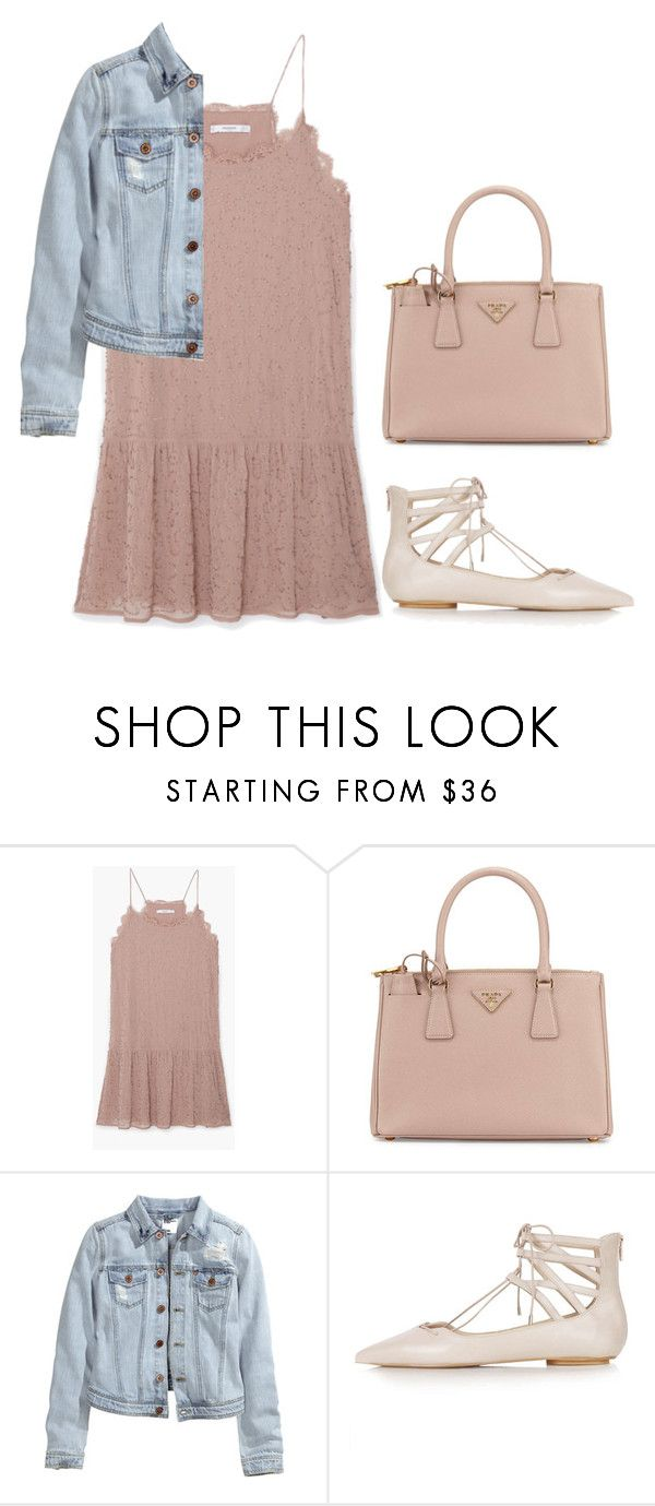 """Pink & Denim: Valentine's Day"" by leengardini ❤ liked on Polyvore featuring MANGO, Prada, H&M, Topshop, women's clothing, women, female, woman, misses and juniors"