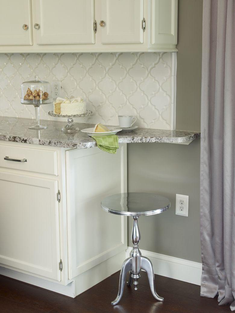 White Cabinet Kitchen Backsplash Ideas: Bianco Antico Granite Countertop With White Cabinets