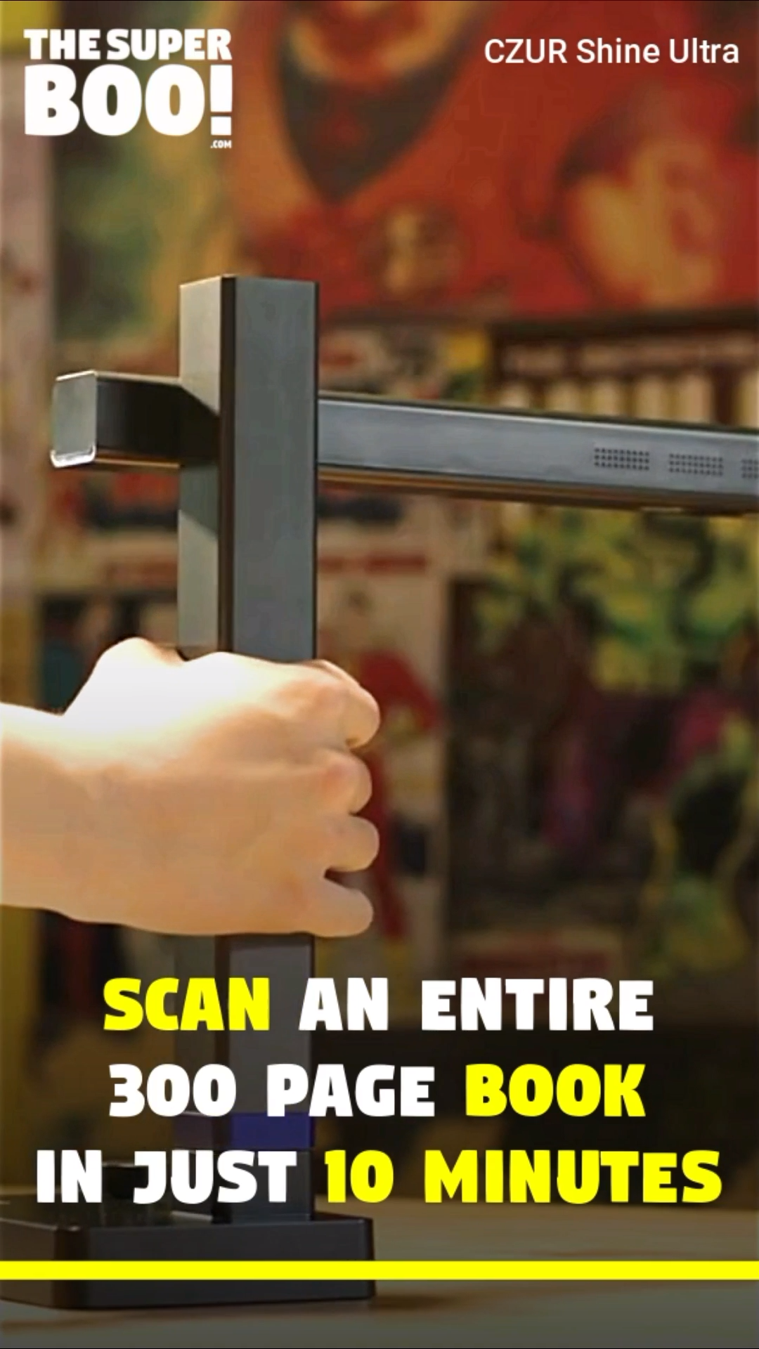 Portable Scanner That Scans A Book In 10 Minutes