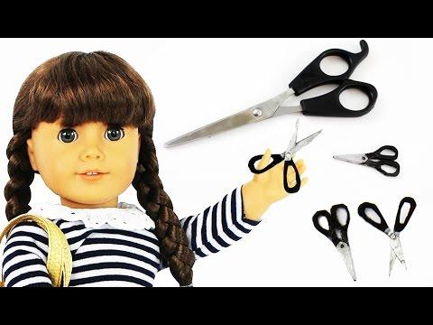 Make realistic DOLL SCISSORS for American Girl / Barbie   -  Easy Doll Crafts - simplekidscrafts #americangirldollcrafts