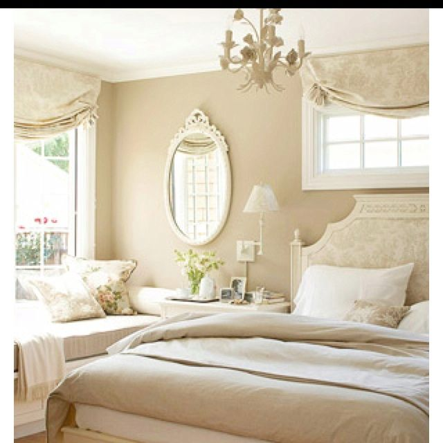 Timeless Bedroom Monochromatic Ivory Cottage Style Bedrooms