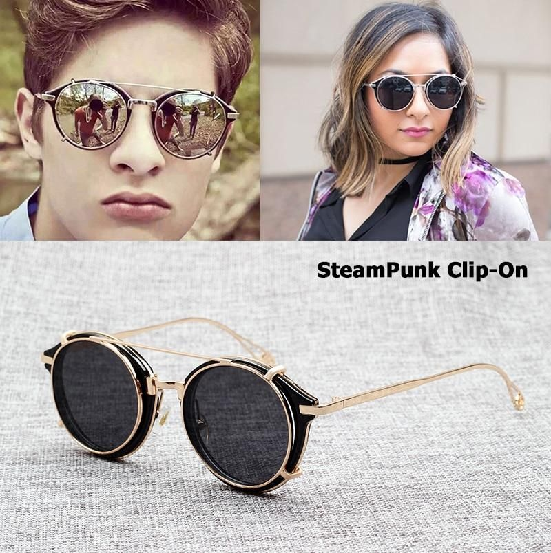 9c6e4e2034f JackJad 2018 Fashion SteamPunk Style Lens Removable Sunglasses Clip On –  KOREAIDOLFEVER