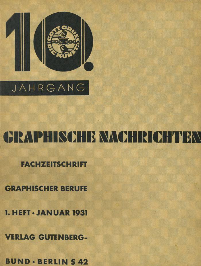 https://flic.kr/p/mtHRfT | Cover Graphische Nachrichten, 10. Jahrgang, Heft 1, Januar 1931