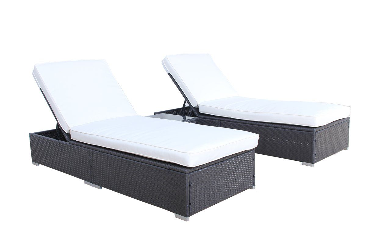 Diana 3 piece chaise lounge set