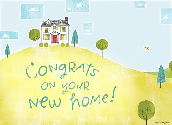 New Home Postcard New Home Greetings New Home Wishes New Home Quotes