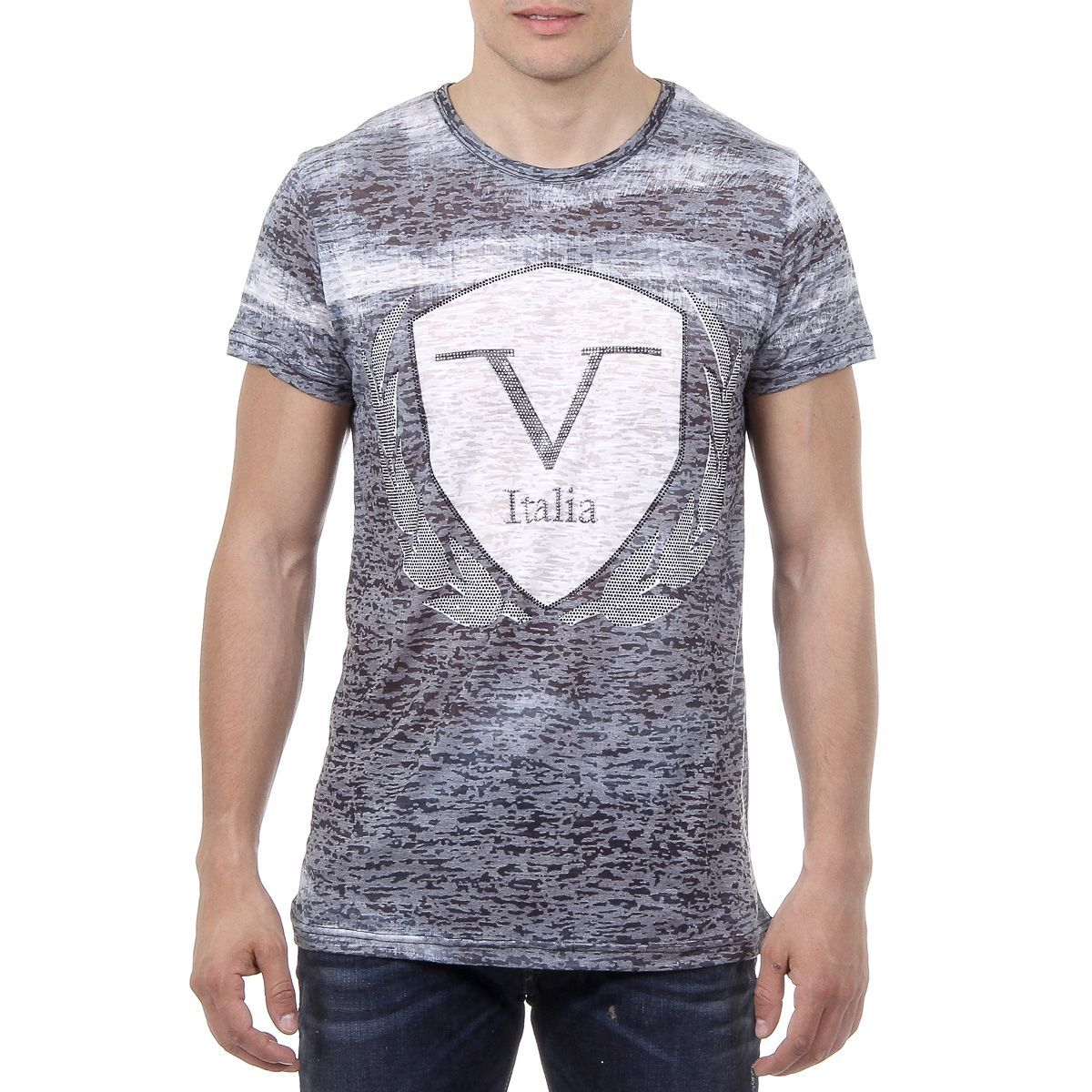 Versace italia mens tshirt short sleeves round neck black logan