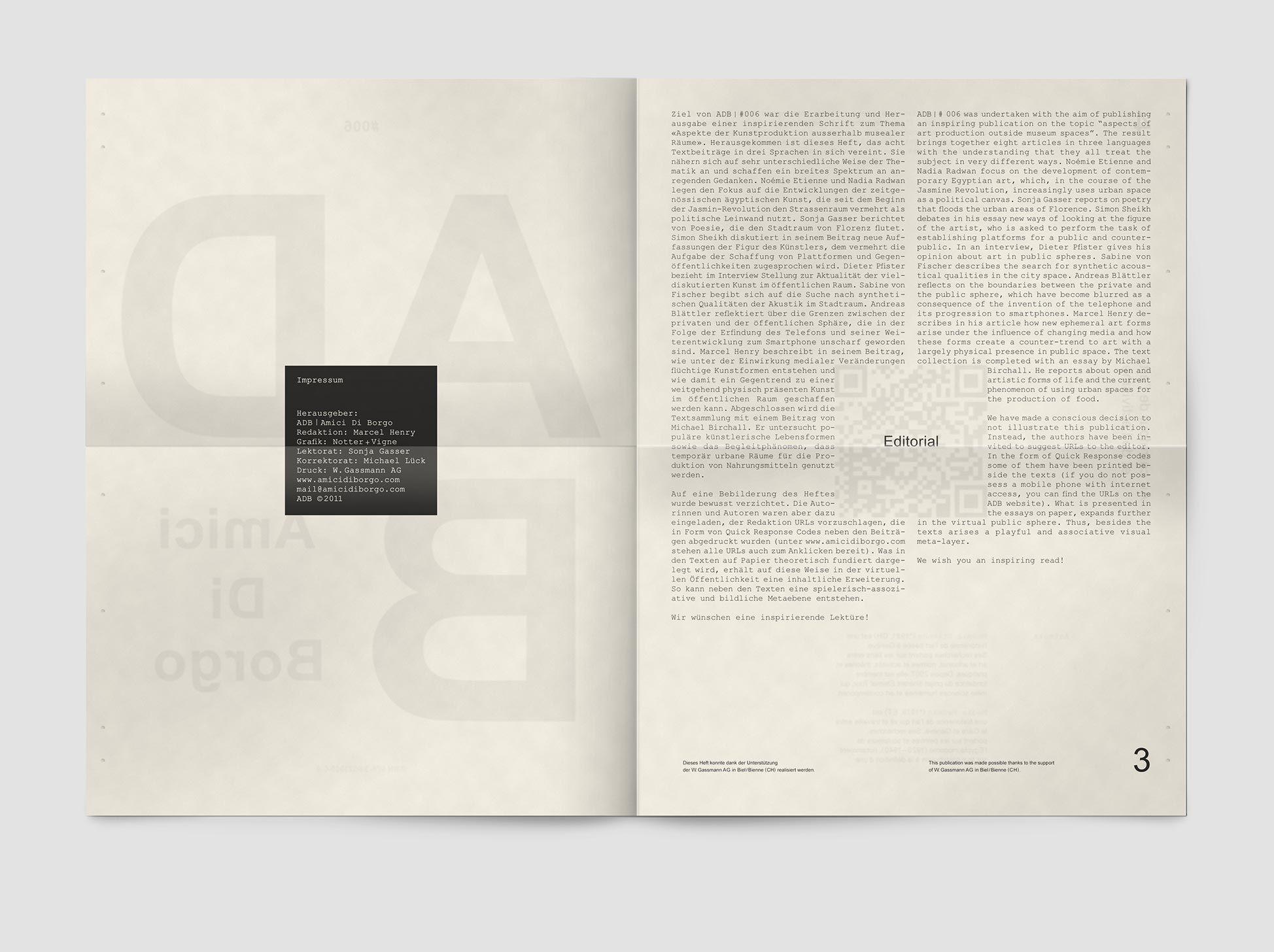 #006 | Journal, Amici Di Borgo, 2011 | Notter + Vigne Sàrl
