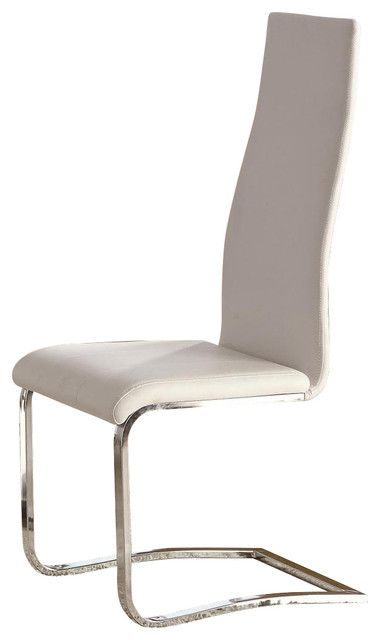 Faux Leather Dining Chairs With Chrome Legs Http Www Otoseriilan Com Faux Leather Dining Chairs Leather Dining Chairs White Dining Chairs