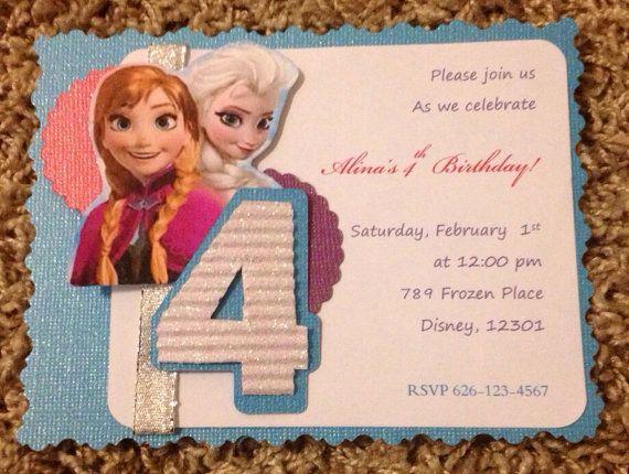 frozen birthday invitation frozen birthday by pixelperfectshoppe, Birthday invitations