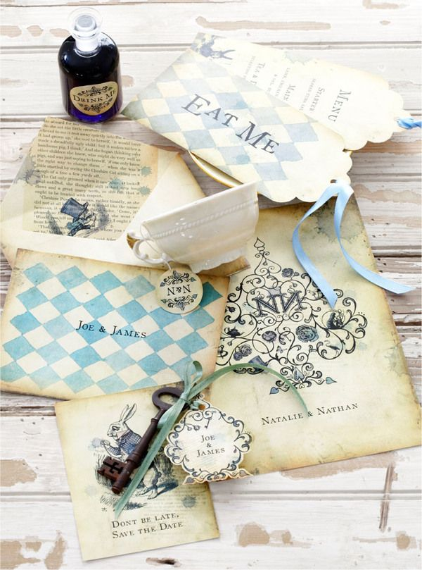Alice In Wonderland Wedding Invite By Soil Design  Http://www.mirrormirrorincbridal.