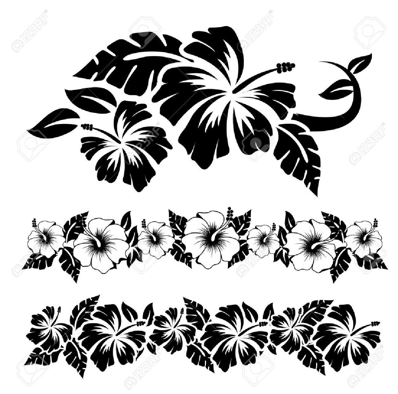 Tropical flower stencils gallery tiki partys pinterest tropical flower stencils gallery izmirmasajfo