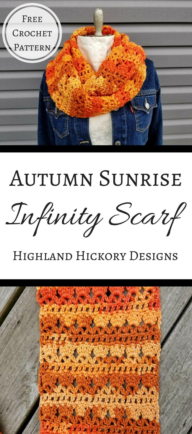 Autumn Sunrise Infinity Scarf | Knit/Crochet Projects | Pinterest ...