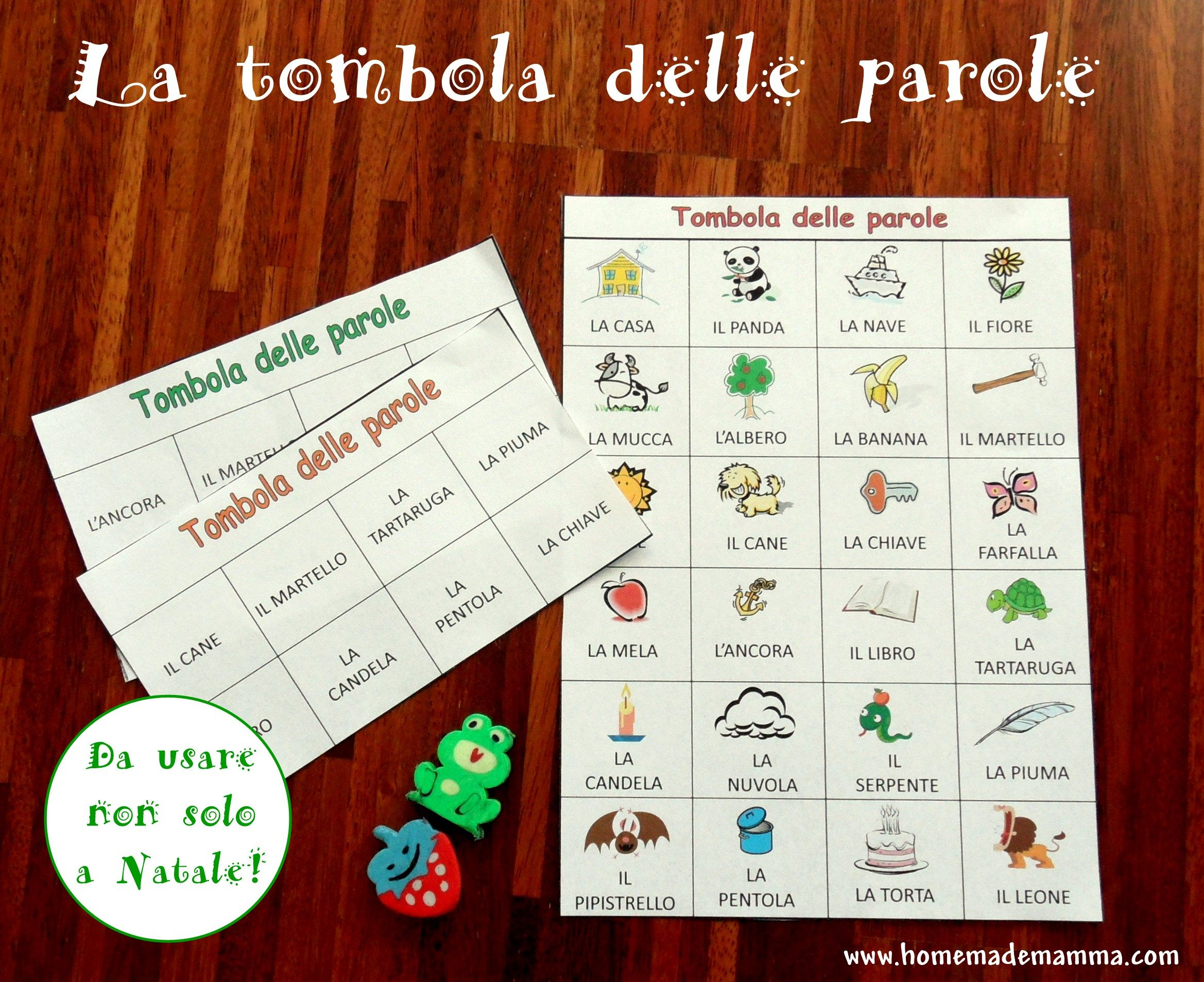 La Tombola Delle Parole Teaching Pinterest Montessori School