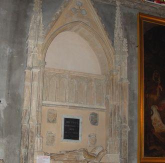 Tombeau de Benoît XII. cathédrale Notre Dame des Doms. Avignon. Provence