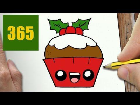 Comment Dessiner Cupcake De Noel Kawaii Etape Par Etape