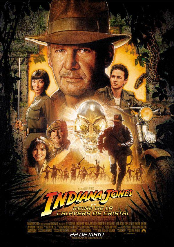 Póster Indiana Jones, El Reino de la Calavera de Cristal