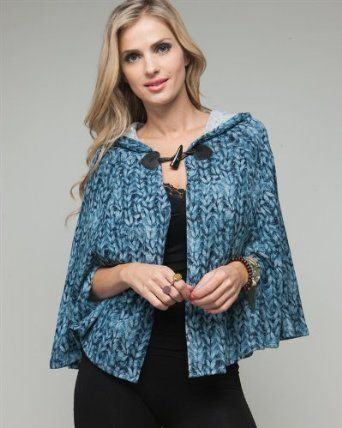 G2 Chic Weave Print Design Hooded Shawl(TOP-CGN,BLU-L) G2 Chic. $6.97