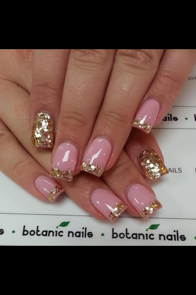 Gold#pink | Beauty | Pinterest | French manicure designs, Creative ...