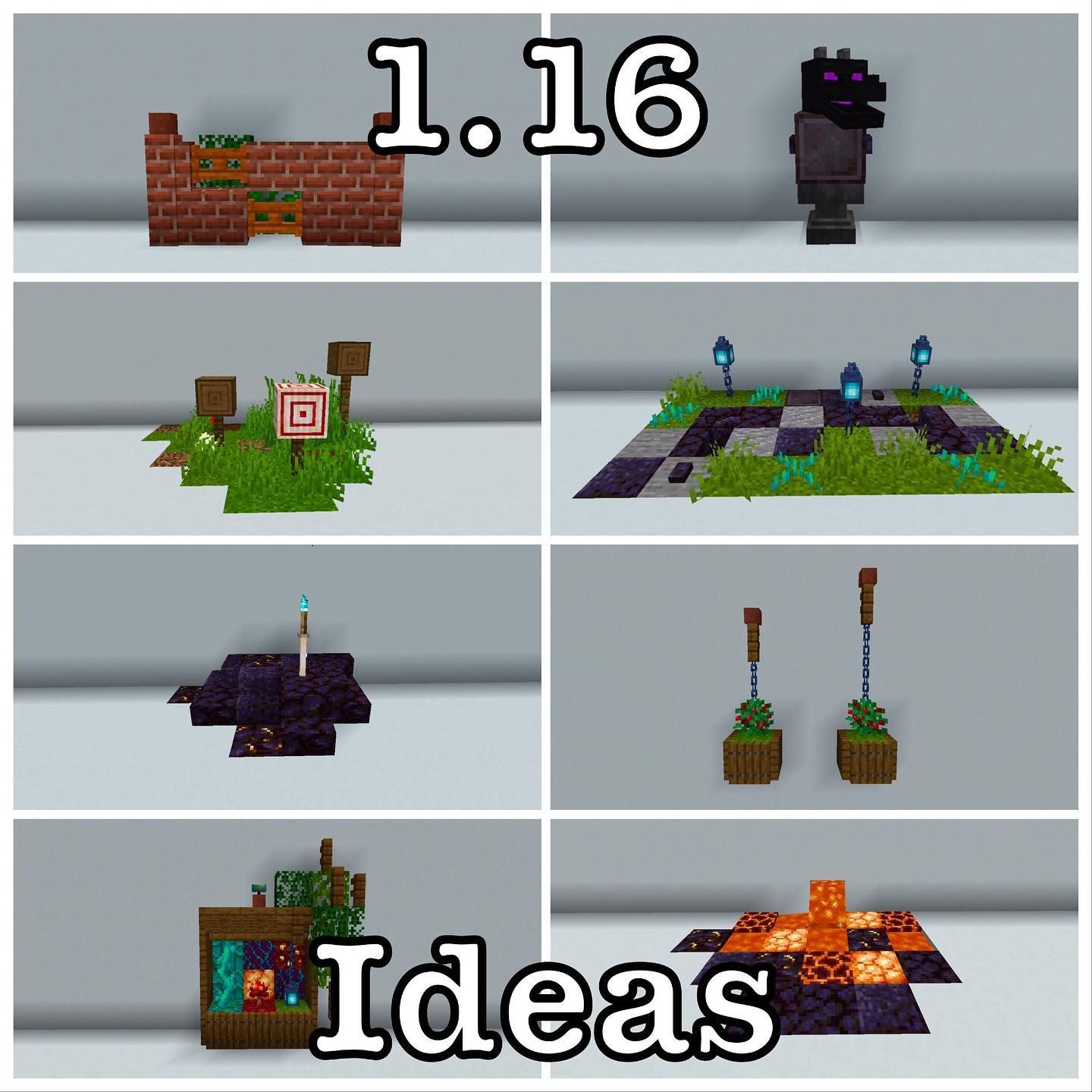 So Because Some Of You Asked Here Are Some 1 16 Ideas  U2022 Like And Follow  Minecraft Luki7 For