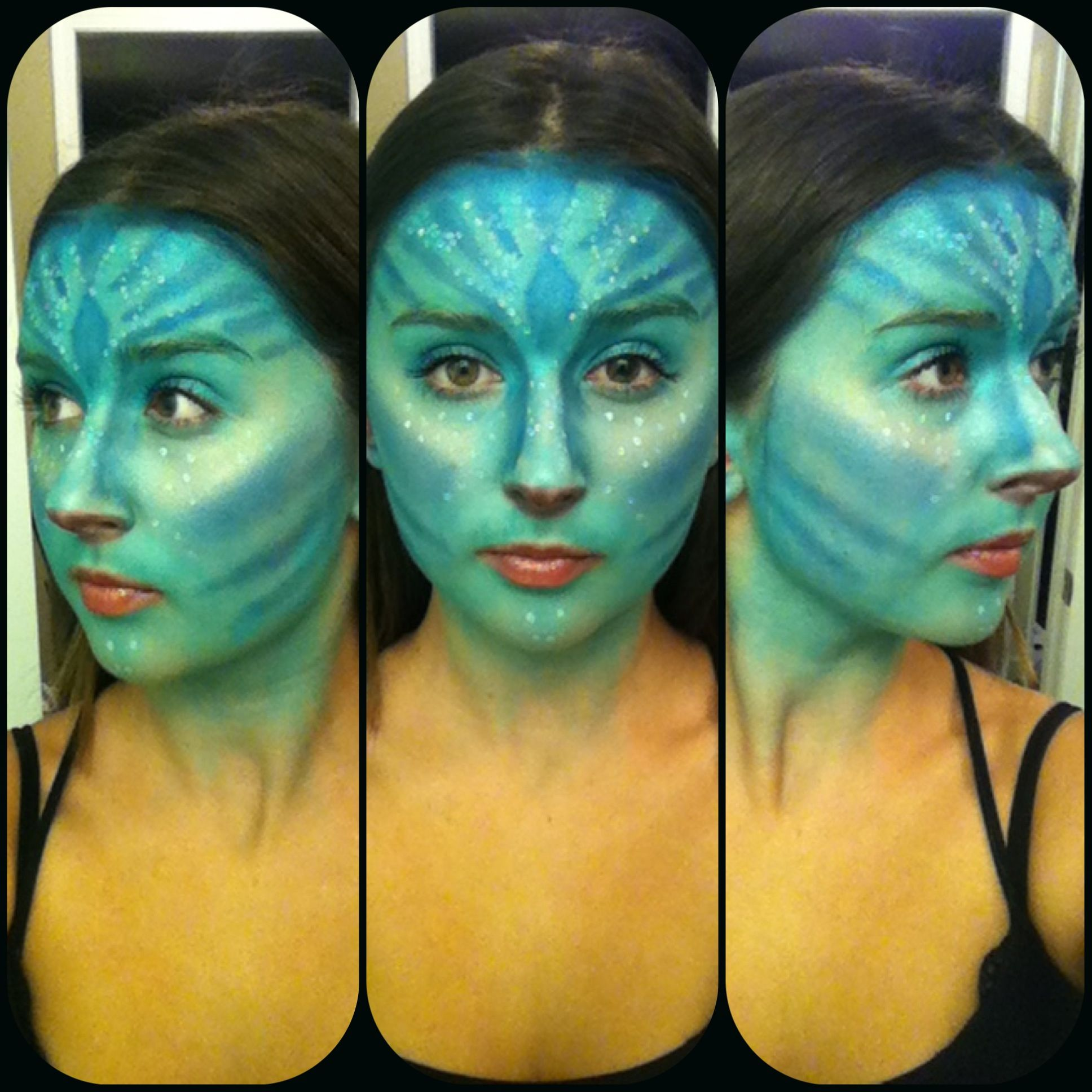 Some special fx I did tonight. #avatar #sfxmakeup #specialfx #makeup #makeupartist