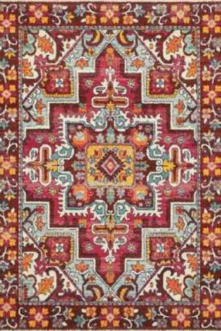 Oriental Weavers Bohemian Rug Traditional Inspirations Are Updated And Energized With A Bright Playful Spirit Tribal Influence Bohemian Area Rugs Floral Rug
