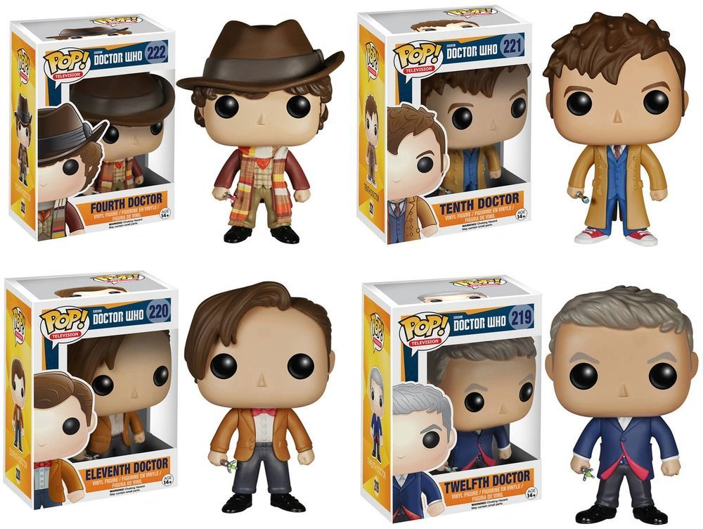 Funko Doctor Who Pop Tv Vinyl Collectors Set 4th 10th 11th And 12th Doctor Funko Vinyl Collectors Tenth Doctor Twelfth Doctor