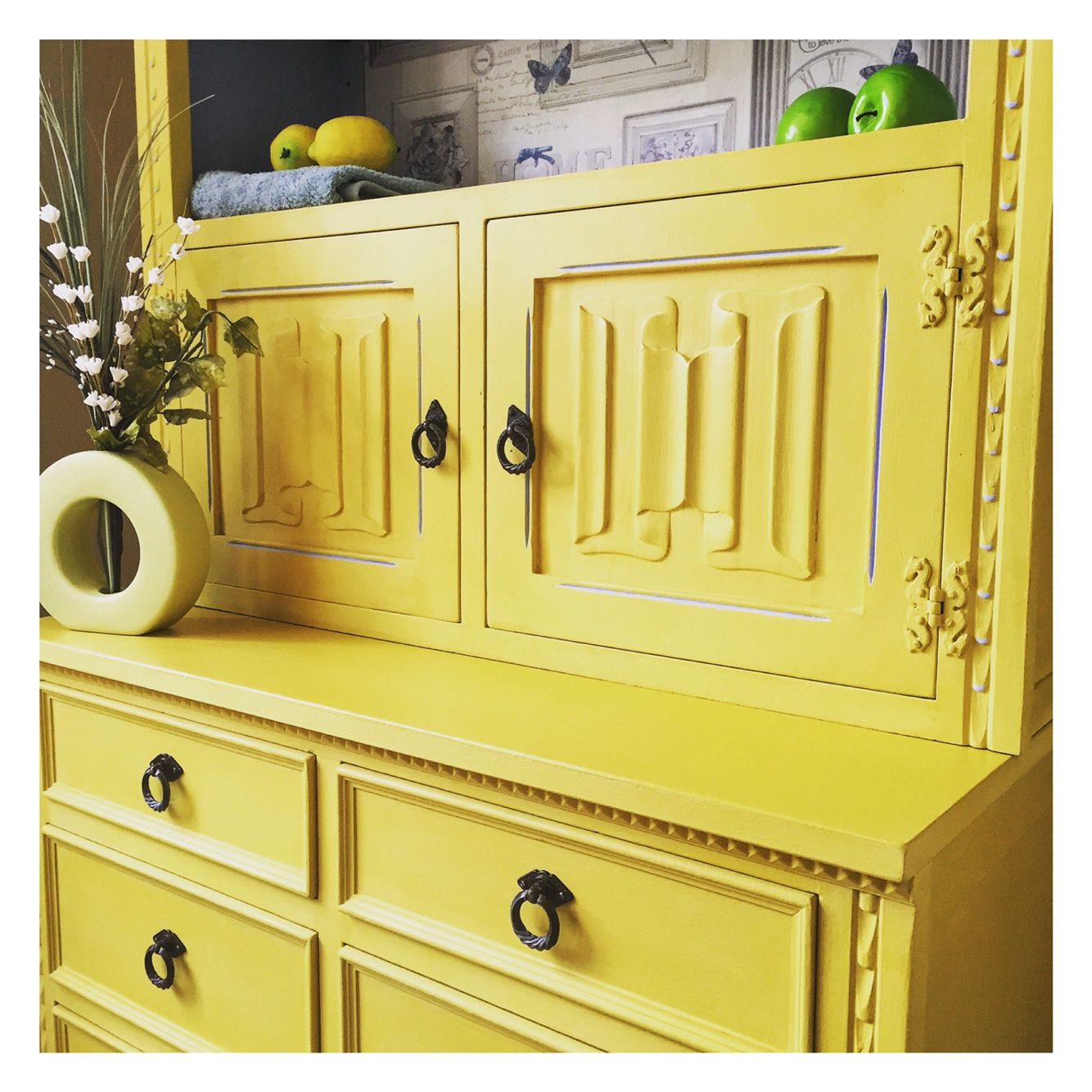 Hand painted 'Jaycee' dresser, bookcase by The Old Barnyard at Amorini