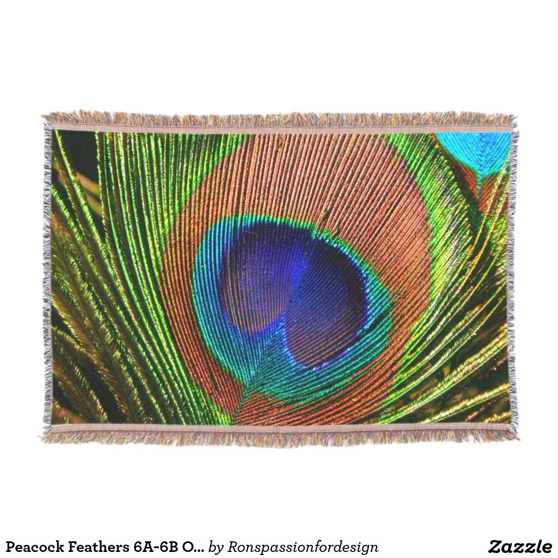 Peacock feathers ab options throw blanket peacock feathers