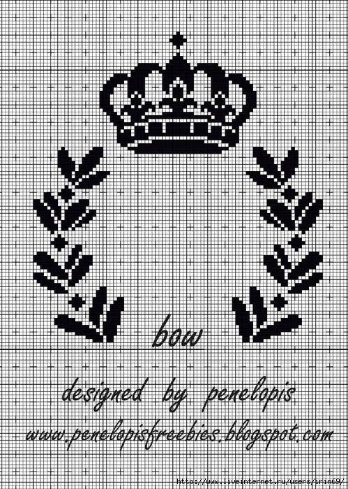 Корона схема крестиком