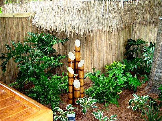 i like the water feature ferns and hostas bamboo landscaping ideas google search - Garden Design Using Bamboo