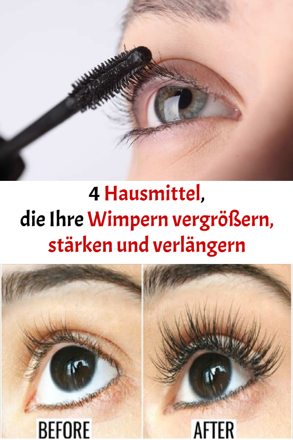4 Hausmittel Die Ihre Wimpern Vergrossern Starken Und Verlangern Movie Posters Make Up How To Make