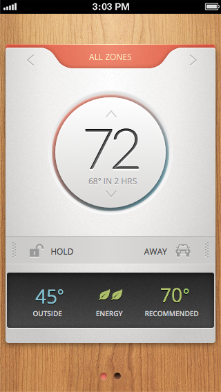 iphone thermostat app bible user interface and ui ux