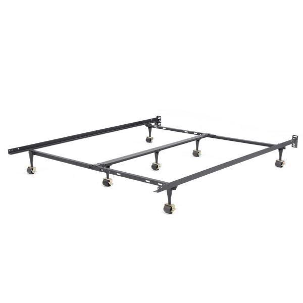 Hercules Queen Universal Heavy Duty Metal Bed Frame Black Steel In 2020 Bed Frame Adjustable Bed Frame Metal Beds