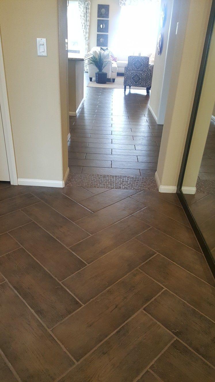 Same Tile Different Pattern To Transition Model Homes Kitchens Bathrooms Flooring