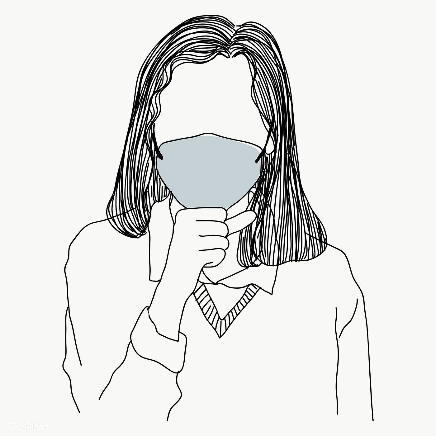 Woman Wearing Face Mask Coughing Character Element Transparent Png Free Image By Rawpixel Com Sasi In 2020 Mask Drawing Face Mask Mask