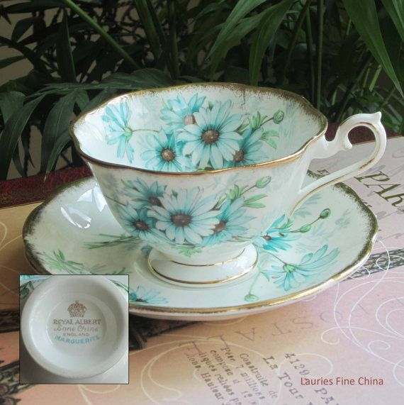Royal Albert MARGUERITE Bone China Tea Cup and by LauriesFineChina