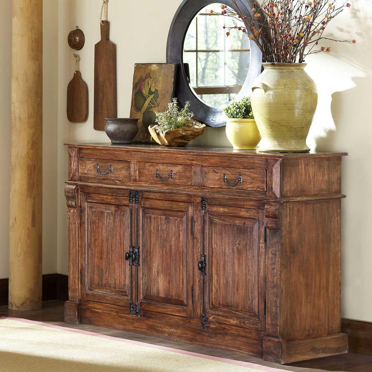 Willamette 59 3-Drawer 3-Door Natural Rustic Buffet ...