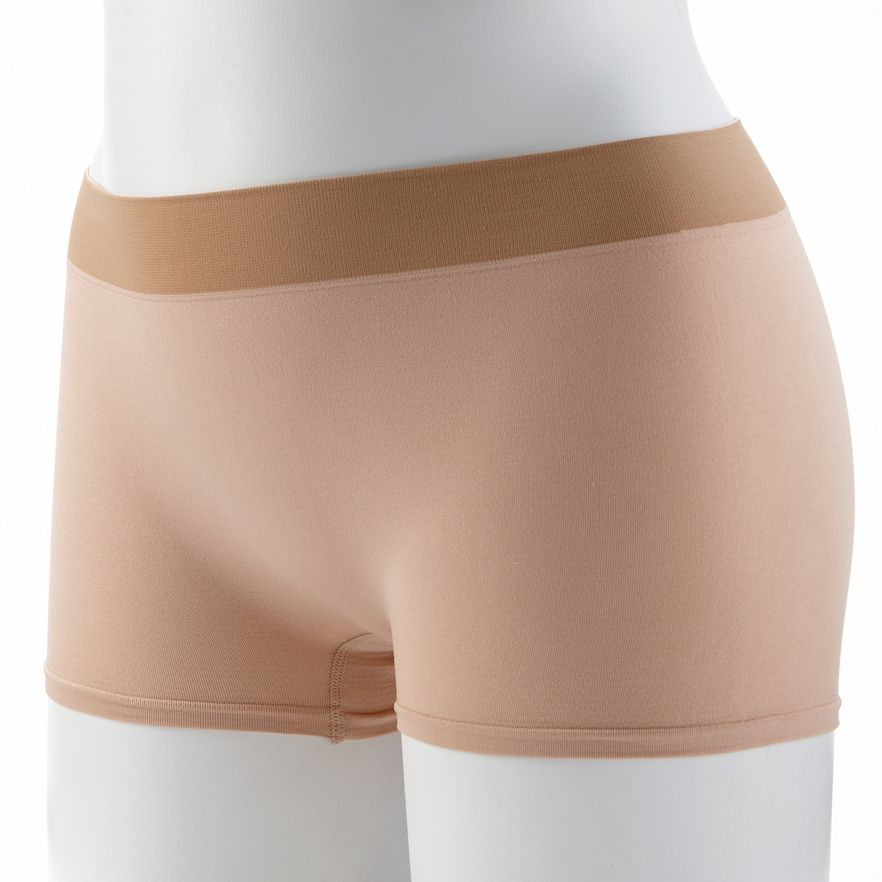 964155740 Jockey Modern Seamfree Boyshorts 2046 - Women's, Size: 6, Green in ...