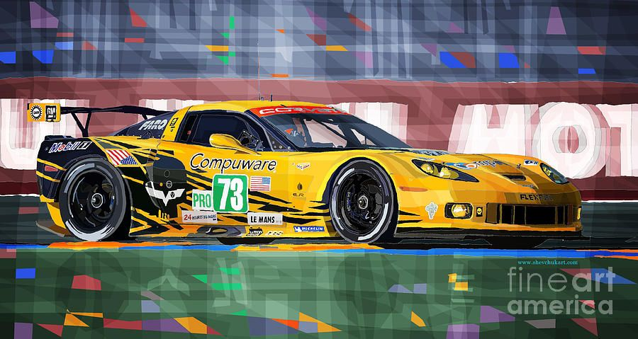 Chevrolet Corvette C6r Gte Pro Le Mans 24 2012 Digital Art