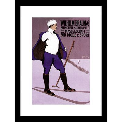 Buyenlarge Reflective Skier in Turtleneck Framed Vintage Advertisement
