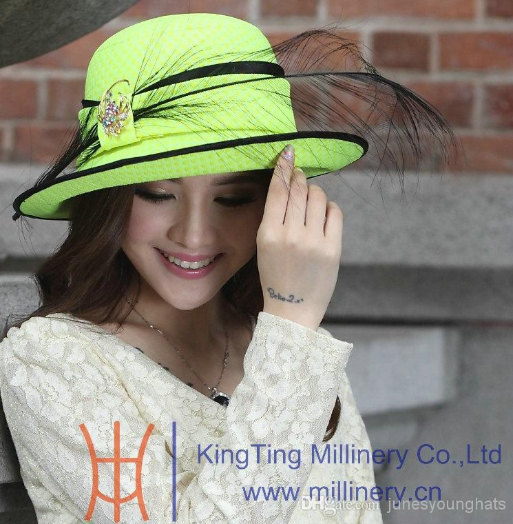 f2b30a09e64 Women Hat Formal Hat Winter Hat Top Hat Church Hat Dress Hat Party Hats  Feather Ladies  100% Woolen Fabric Elagant Newly Designed Online with   38.96 Piece ...