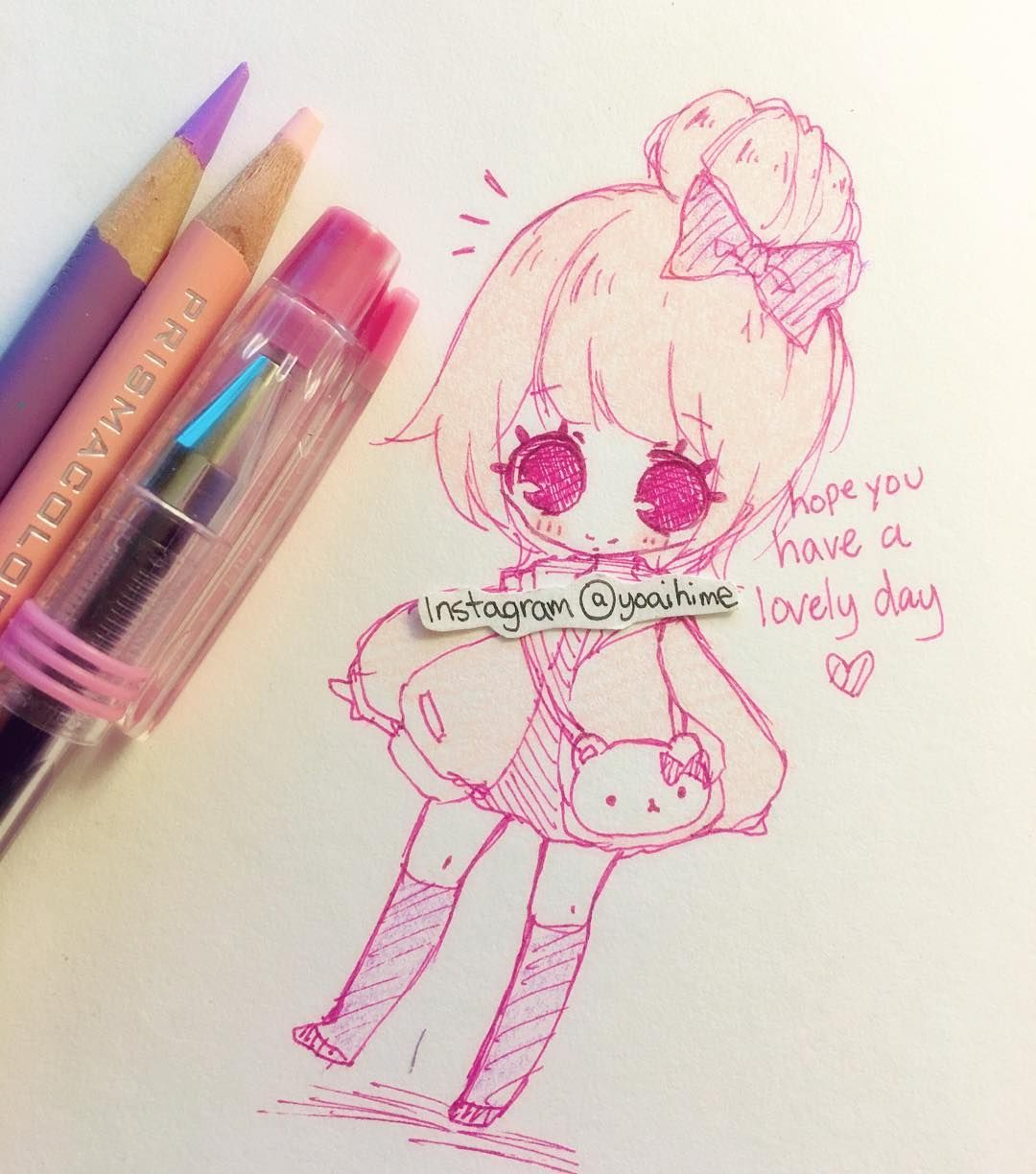 Hi~ a quick doodle, just wanted to tell everyone that you all deserve to be happy and to have a great day (。・ω・。)ノ♡